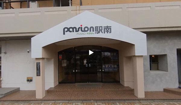 正面入り口:新潟の格安ウィークリー・マンスリーマンション:パンション駅南