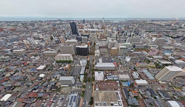 空撮:新潟の格安ウィークリー・マンスリーマンション:パンション駅南